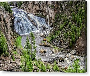 Silk Water Canvas Print - The Gibbon Waterfall by Robert Bales