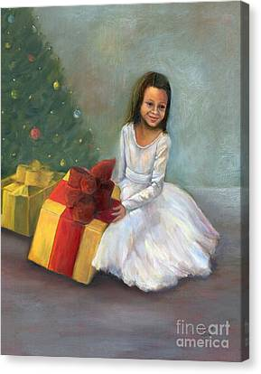 Canvas Print featuring the painting The Gift by Marlene Book