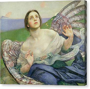 The Gift Of Sight Canvas Print by Annie Louisa Swynnerton