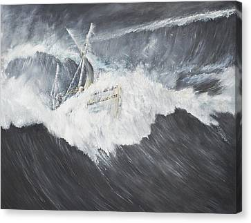 The Gigantic Wave Canvas Print by Vincent Alexander Booth