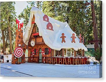 Canvas Print featuring the photograph The Gingerbread House by Eddie Yerkish