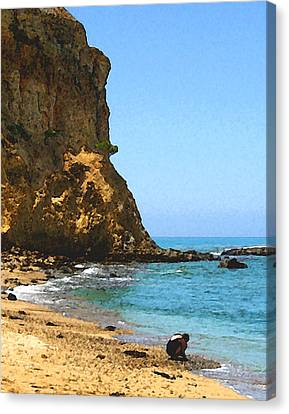 The Girl At Abalone Cove Canvas Print