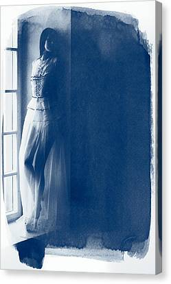 The Girl At The Window. Canvas Print by Andrey  Godyaykin