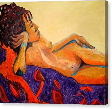 Canvas Print featuring the painting The Girl From Ipanima by Esther Newman-Cohen