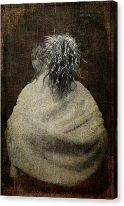 The Girl With Silver Hair Canvas Print