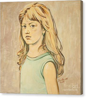 The Girl With The Golden Hair Canvas Print