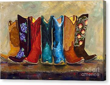 Clothing Canvas Print - The Girls Are Back In Town by Frances Marino