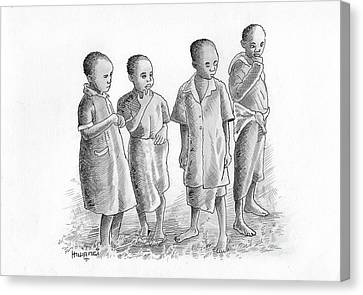 Children Together Canvas Print by Anthony Mwangi
