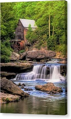 West Virginia Canvas Print - The Glade Creek Mill by Tom Mc Nemar