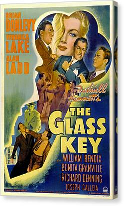 The Glass Key, William Bendix, Veronica Canvas Print by Everett