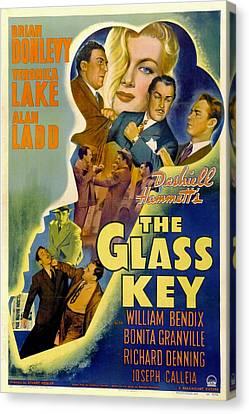 The Glass Key, William Bendix, Veronica Canvas Print by Everett