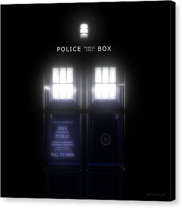 Canvas Print - The Glass Police Box by Jules Gompertz