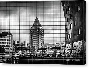 Canvas Print featuring the photograph The Glass Windows Of The Market Hall In Rotterdam by RicardMN Photography