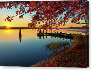 The Glassy Patuxent Canvas Print