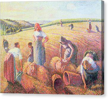 The Gleaners Canvas Print by Camille Pissarro