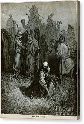The Gleaners Canvas Print - The Gleaners Engraving by Celestial Images