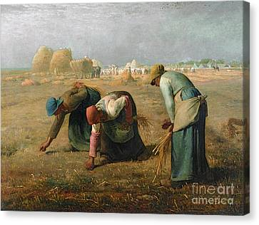 Woman Canvas Print - The Gleaners by Jean Francois Millet