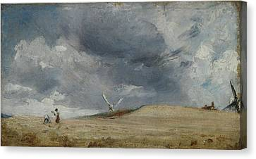 The Gleaners Canvas Print - The Gleaners by John Constable
