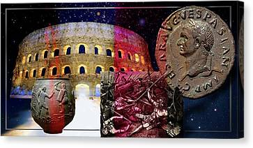 The Glory And The Terror That Was Rome . Canvas Print by Hartmut Jager
