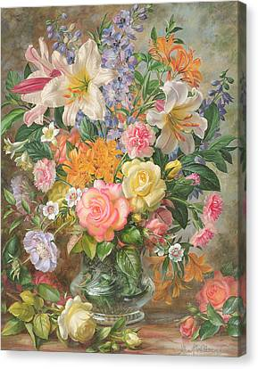 The Glory Of Summertime Canvas Print by Albert Williams