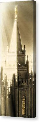 Canvas Print featuring the photograph The Glory Of The Lord Shone Round About by Greg Collins