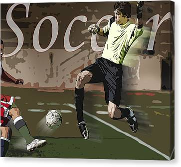 The Goalkeeper Canvas Print by Kelley King