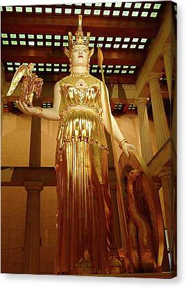 The Goddess Athena Canvas Print by Denise Mazzocco
