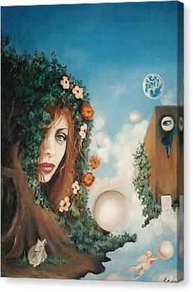 The Goddess Canvas Print by Jordana Sands
