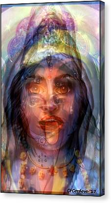 Hathor Canvas Print - The Goddesses Within You by Carmen Cordova