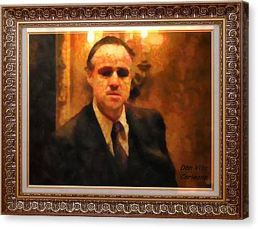 The Godfather Canvas Print by Mario Carini