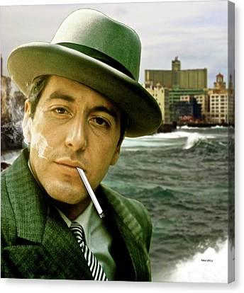 The Godfather, Michael Corleone, Al Pacino, Avenida De Maceo, Havana, Cuba Canvas Print by Thomas Pollart