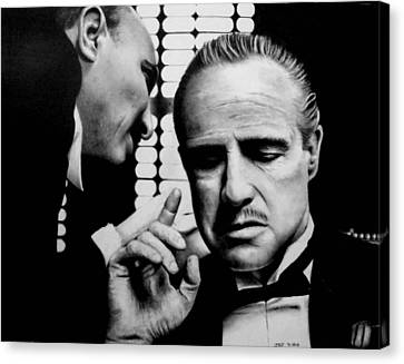 The Godfather Canvas Print by Rick Fortson