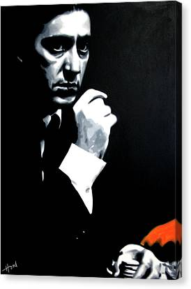Michael Corleone Canvas Print - The Godfather by Hood alias Ludzska