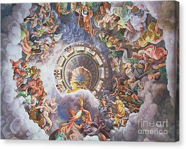 The Gods Of Olympus Canvas Print by Giulio Romano