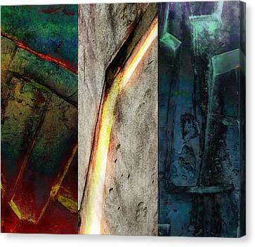 Canvas Print featuring the digital art The Gods Triptych 2 by Ken Walker