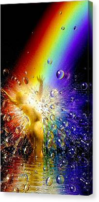 The Gold At The End Of The Rainbow Canvas Print by Robby Donaghey