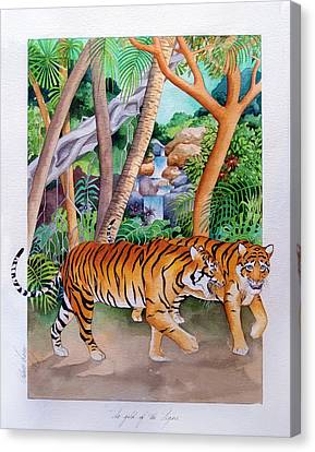 The Gold Of The Tigers Canvas Print by Robert Lacy