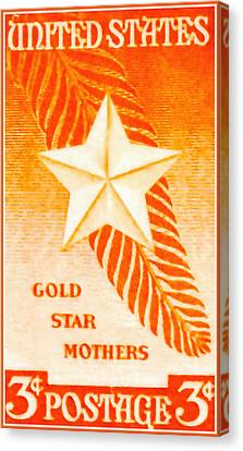 Gold Star Mother Canvas Print - The Gold Star Mothers Stamp by Lanjee Chee