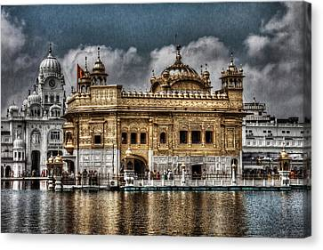 The Gold Temple Canvas Print by Contemporary Art