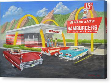 The Golden Age Of The Golden Arches Canvas Print