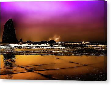 The Golden Beach Canvas Print by David Patterson