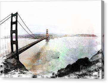The Golden Gate From The Marin Headlands Canvas Print by Leslie Hunziker