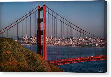Sausalito Canvas Print - The Golden Gate by Hanny Heim