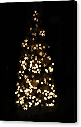 Christmas Art Canvas Print - The Golden Glow Of A Christmas Tree by Rona Black