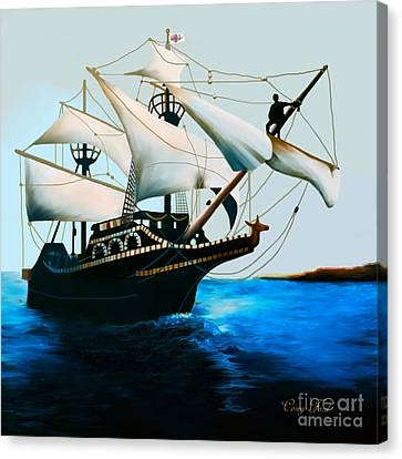The Golden Hind Canvas Print by Corey Ford