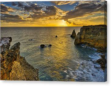 Canvas Print featuring the photograph The Golden Hour - Cabo Rojo - Puerto Rico by Photography By Sai