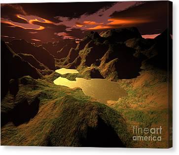 The Golden Lake Canvas Print by Gaspar Avila