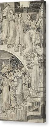 The Golden Stairs Canvas Print by Sir Edward Coley Burne-Jones
