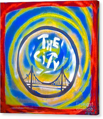 The Golden State City #1 Canvas Print by Tony B Conscious