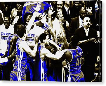 The Golden State Warriors Victorious Canvas Print by Brian Reaves